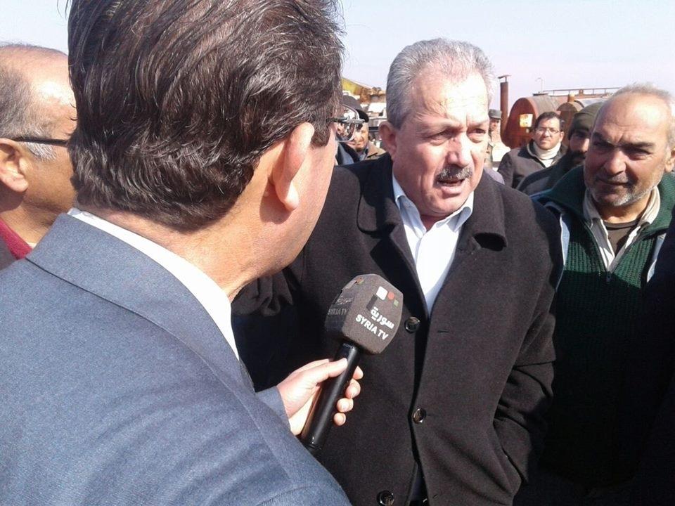 السيد وزير الاشغال العامة والاسكان في زيارة لفرع شركة الطرق والجسور في حلب