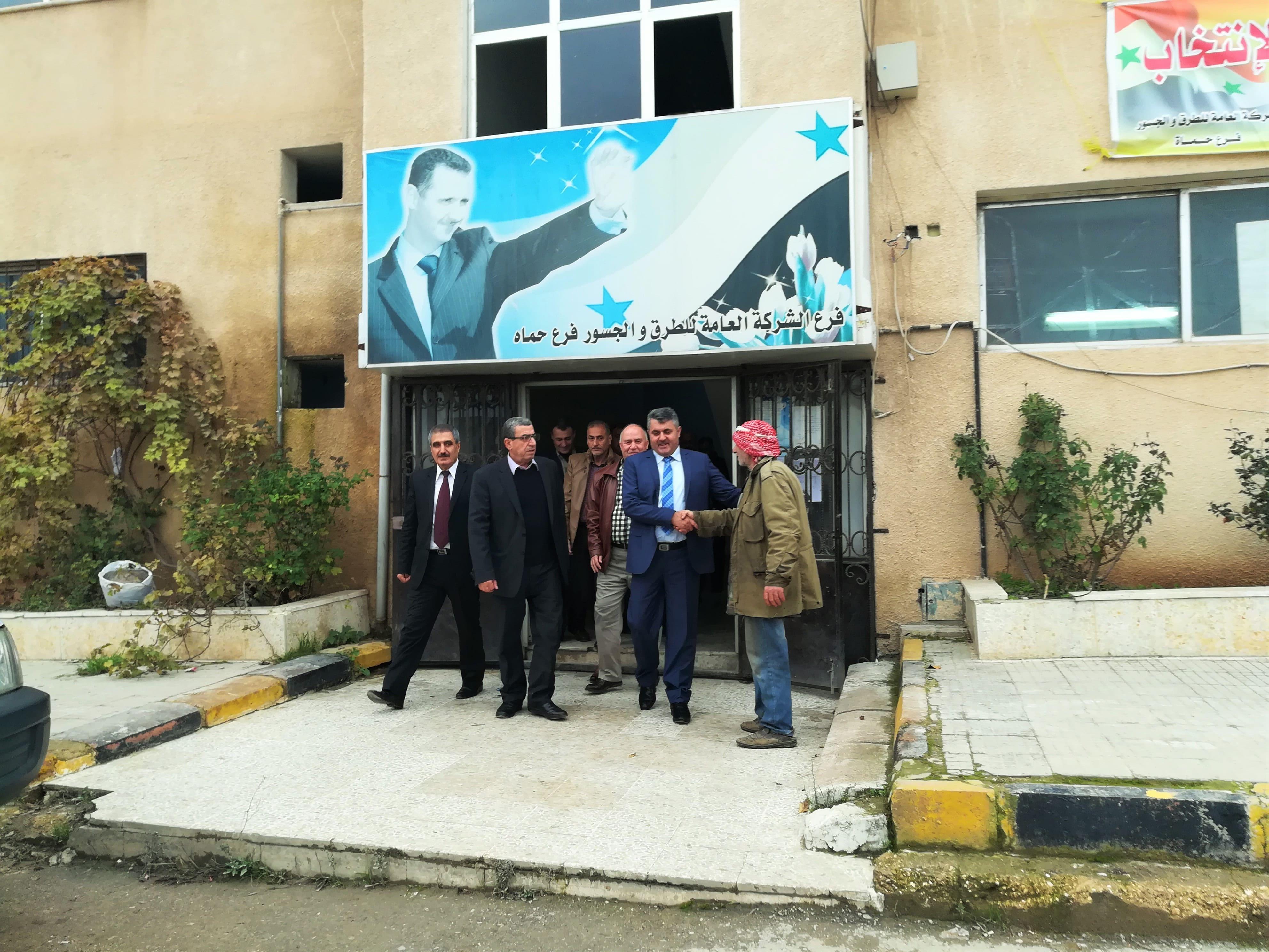 السيد المدير العام المهندس محمد عاصي في لقاء كوادر فرع حماه